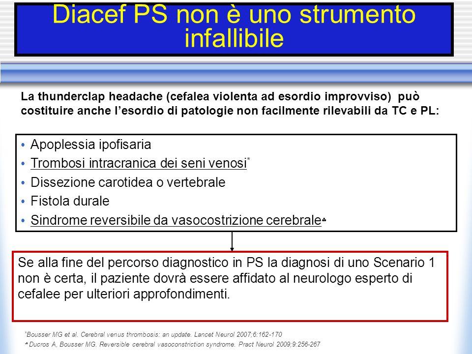 Diacef PS non è uno strumento infallibile