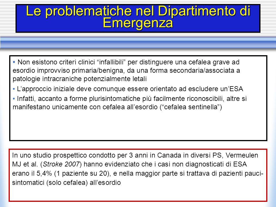Le problematiche nel Dipartimento di Emergenza