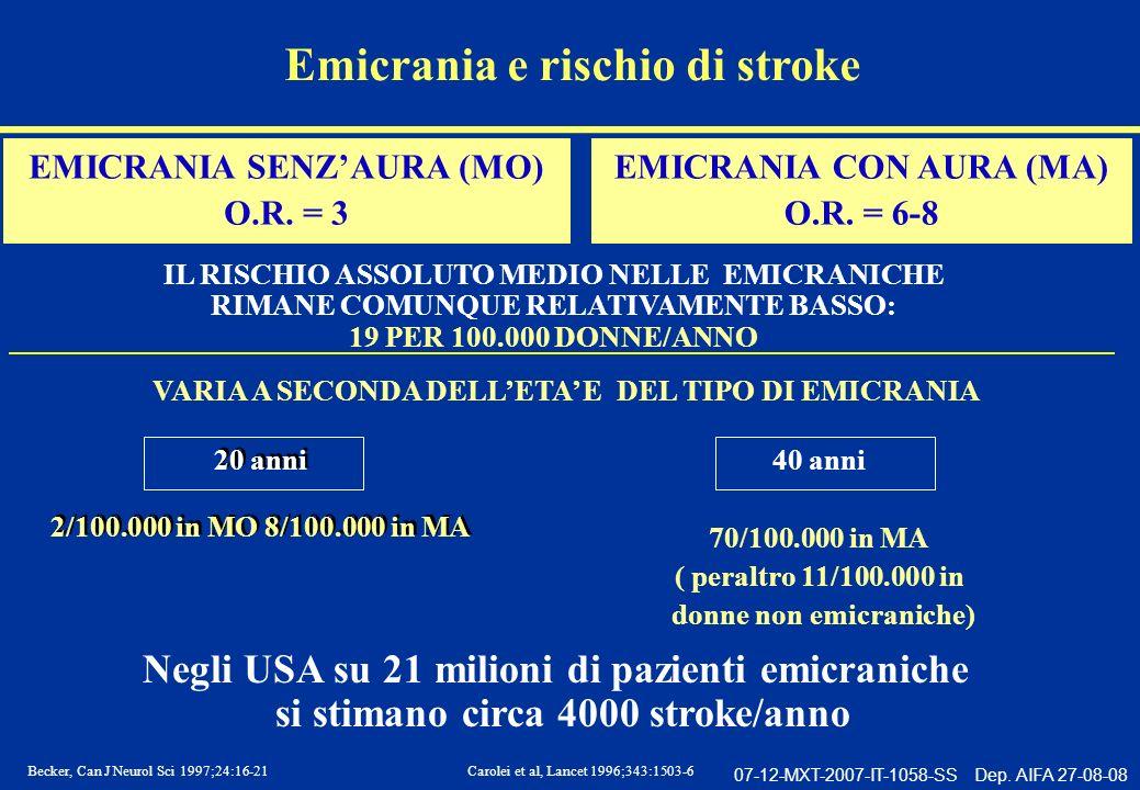 Emicrania e rischio di stroke