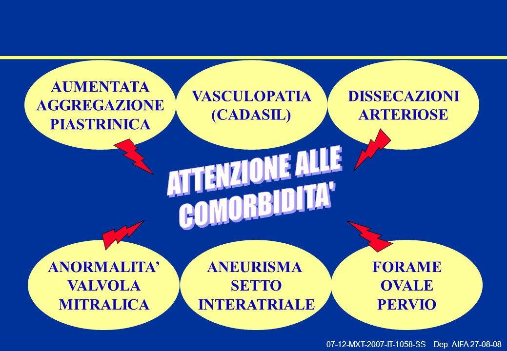 AUMENTATA AGGREGAZIONE PIASTRINICA VASCULOPATIA (CADASIL)