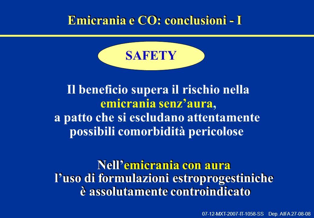 Emicrania e CO: conclusioni - I