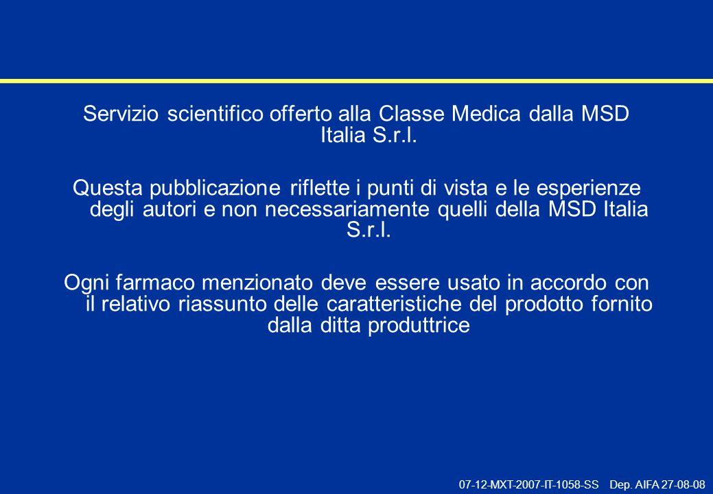 03-07-MXT-05-I-563-INT Servizio scientifico offerto alla Classe Medica dalla MSD Italia S.r.l.