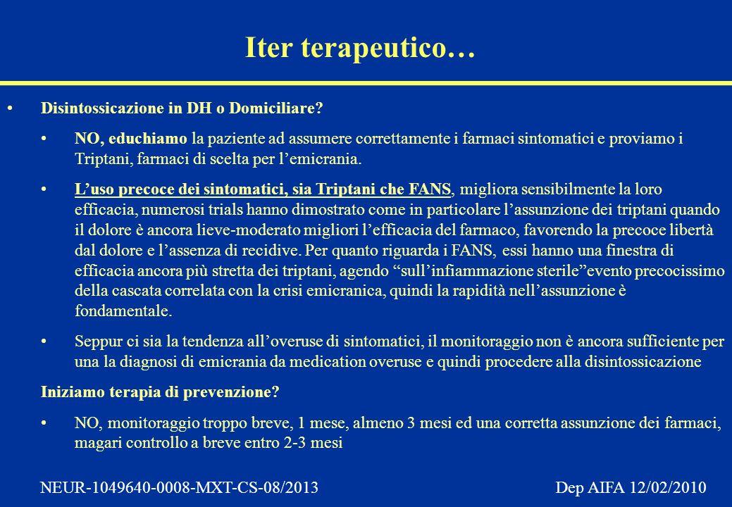 Iter terapeutico… Disintossicazione in DH o Domiciliare