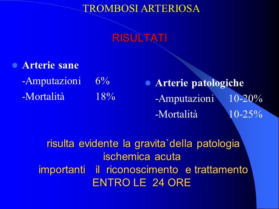 risulta evidente la gravita`della patologia ischemica acuta