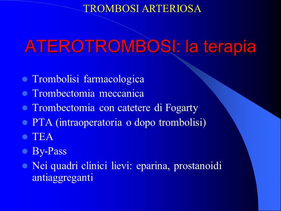 ATEROTROMBOSI: la terapia