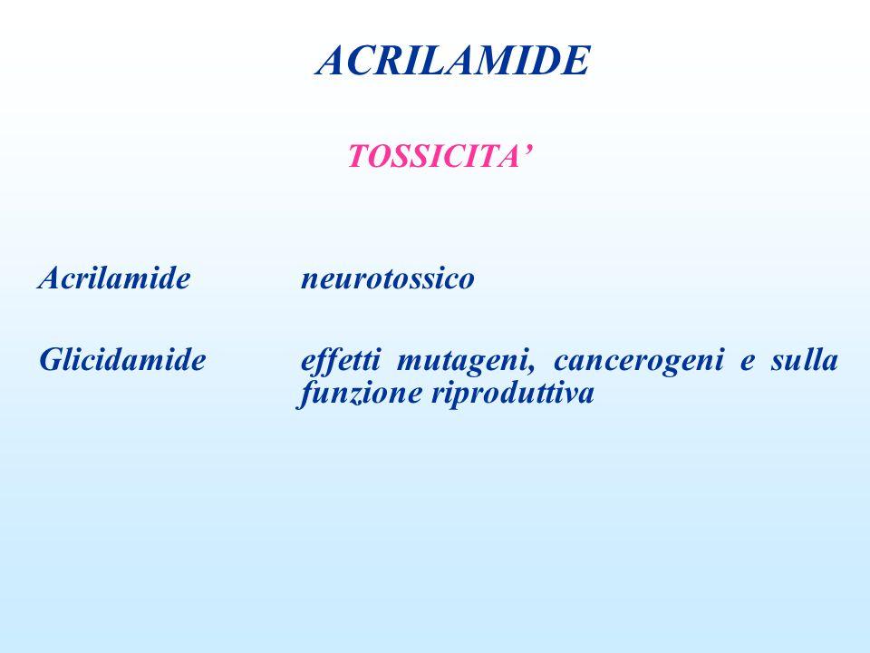 ACRILAMIDE TOSSICITA' Acrilamide neurotossico