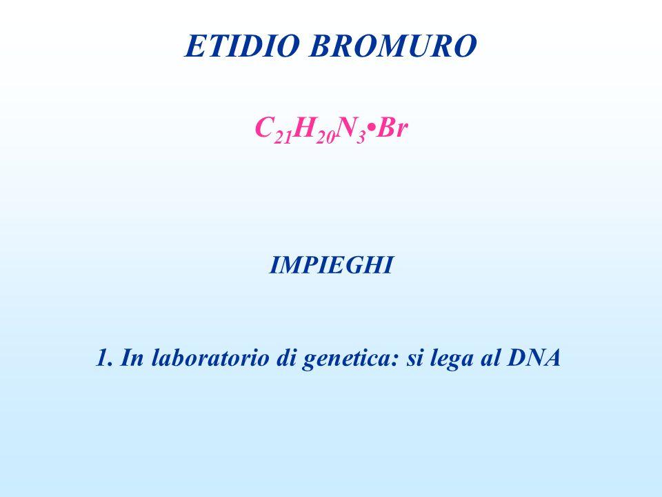 ETIDIO BROMURO C21H20N3•Br IMPIEGHI