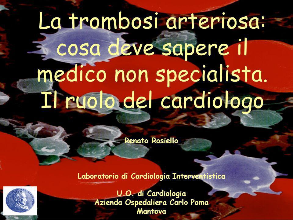 La trombosi arteriosa: cosa deve sapere il medico non specialista
