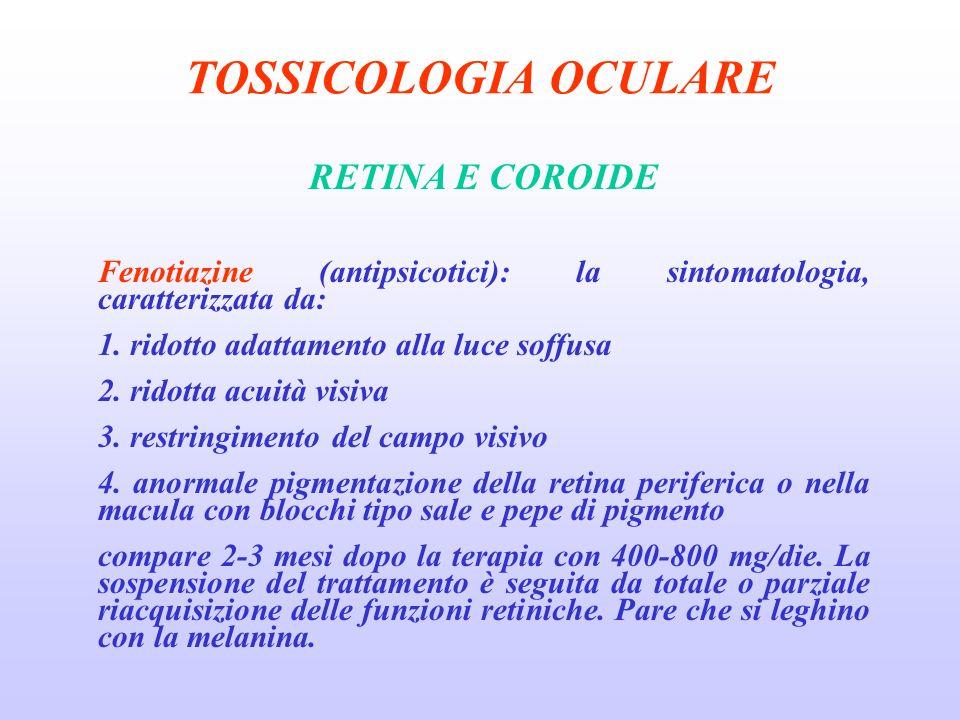 TOSSICOLOGIA OCULARE RETINA E COROIDE