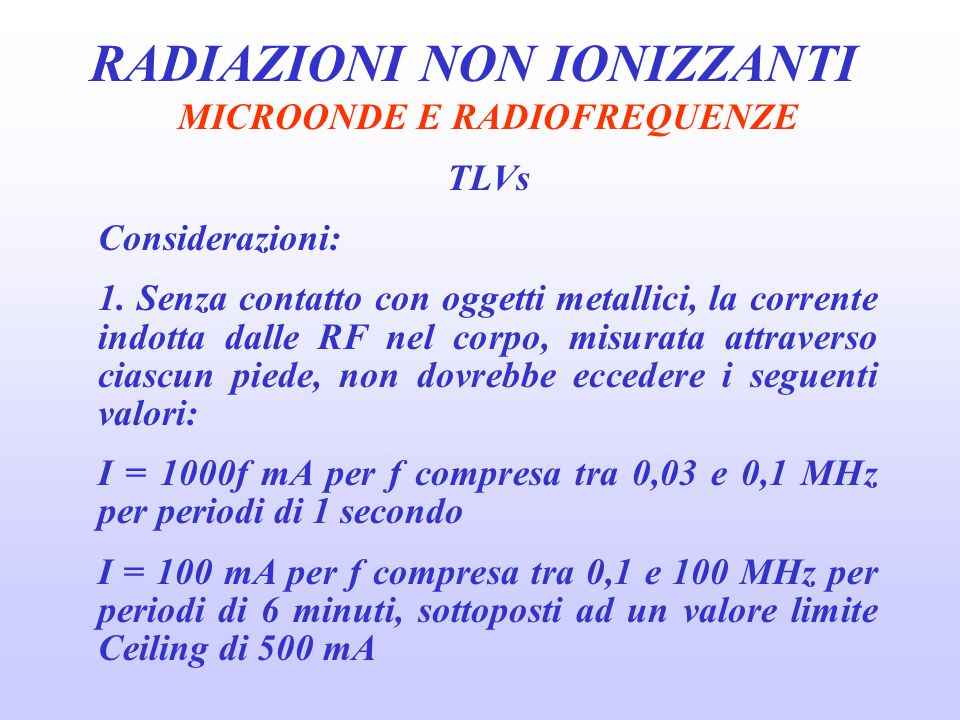 MICROONDE E RADIOFREQUENZE