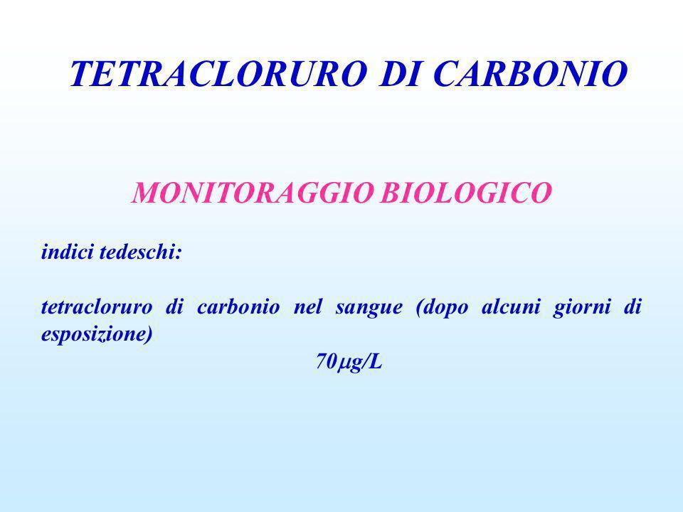 TETRACLORURO DI CARBONIO MONITORAGGIO BIOLOGICO
