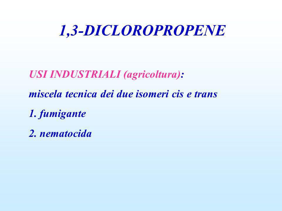 1,3-DICLOROPROPENE USI INDUSTRIALI (agricoltura):