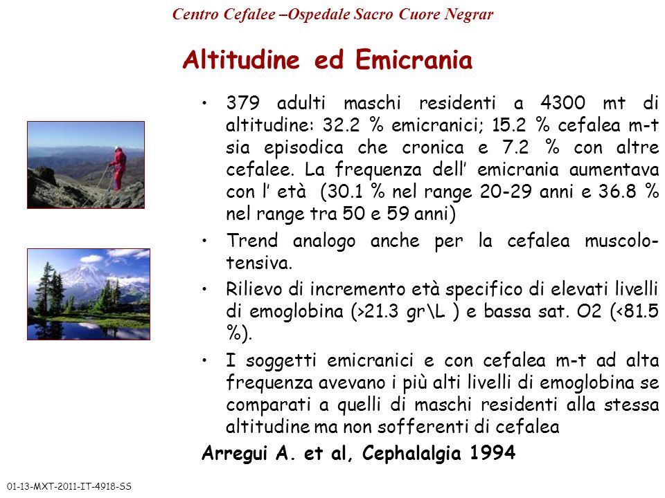 Altitudine ed Emicrania