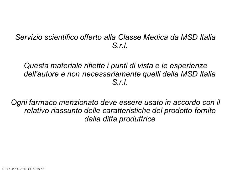Servizio scientifico offerto alla Classe Medica da MSD Italia S.r.l.