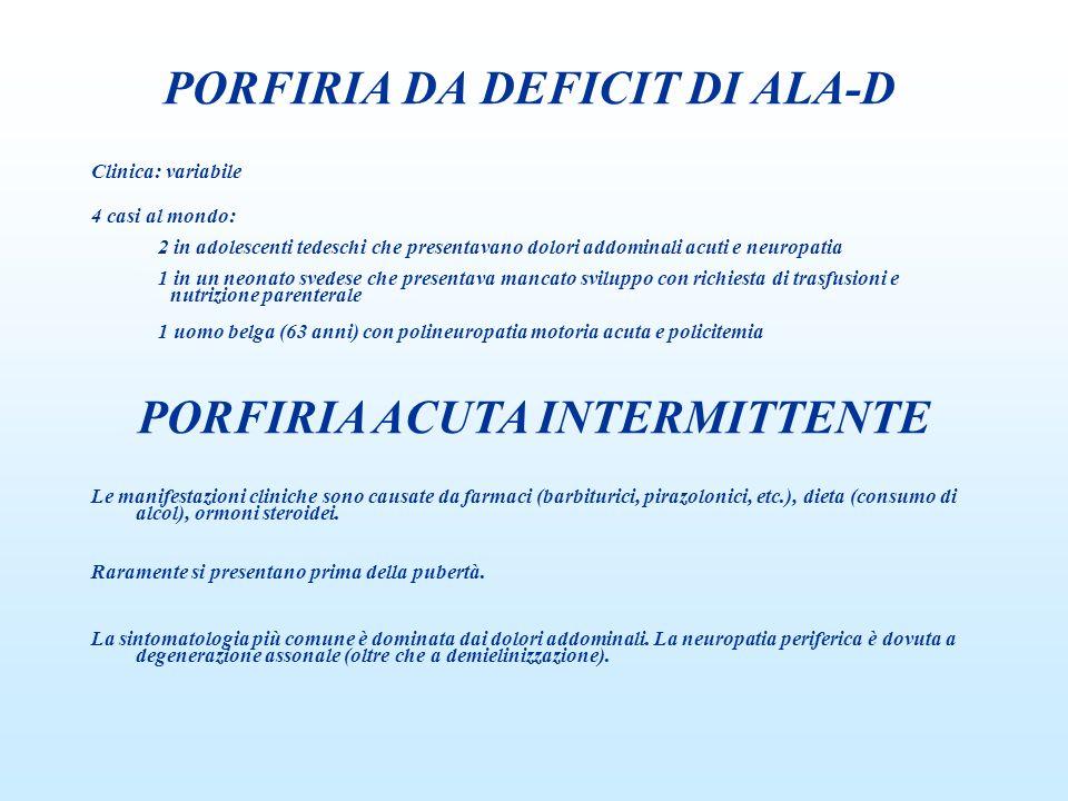 PORFIRIA DA DEFICIT DI ALA-D