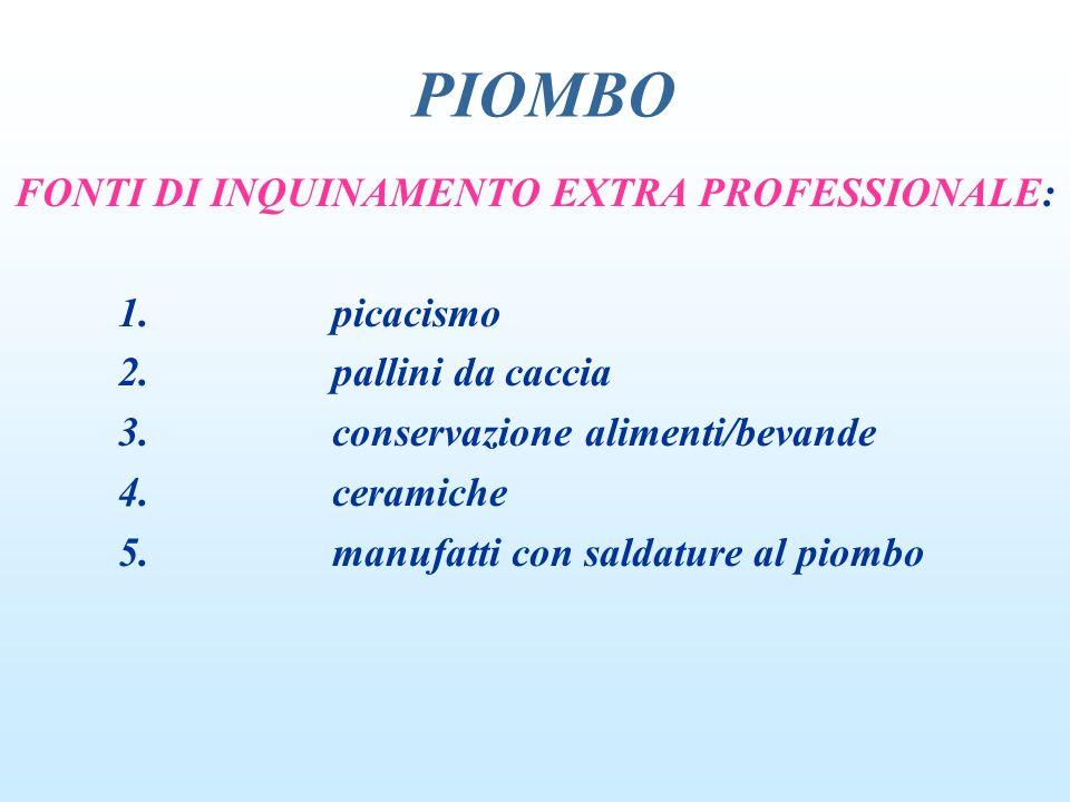 FONTI DI INQUINAMENTO EXTRA PROFESSIONALE: