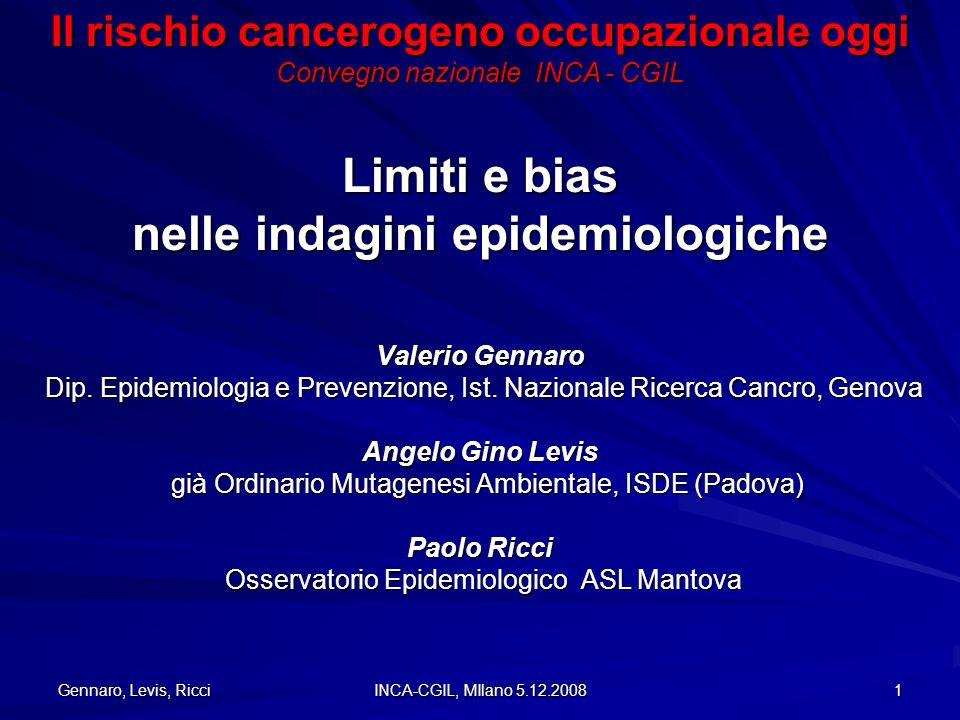 Limiti e bias nelle indagini epidemiologiche