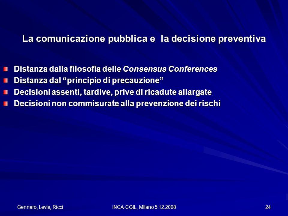 La comunicazione pubblica e la decisione preventiva