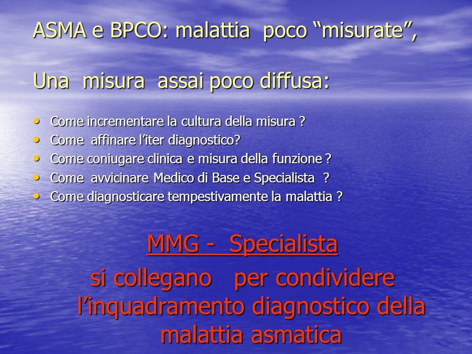 ASMA e BPCO: malattia poco misurate , Una misura assai poco diffusa: