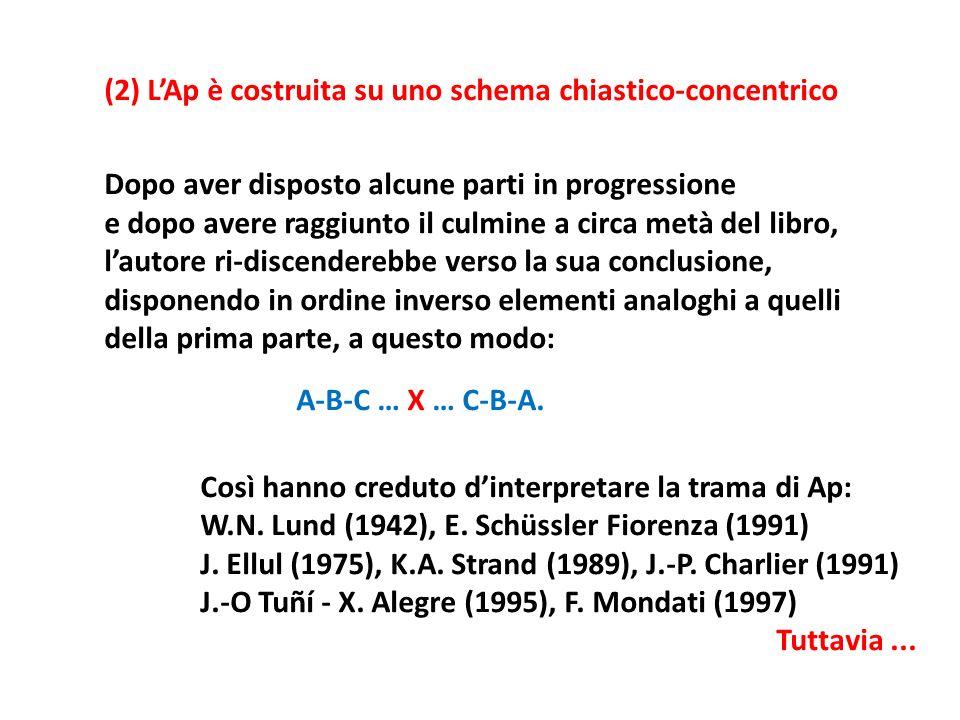 (2) L'Ap è costruita su uno schema chiastico-concentrico
