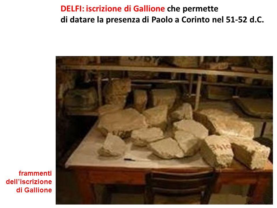 DELFI: iscrizione di Gallione che permette