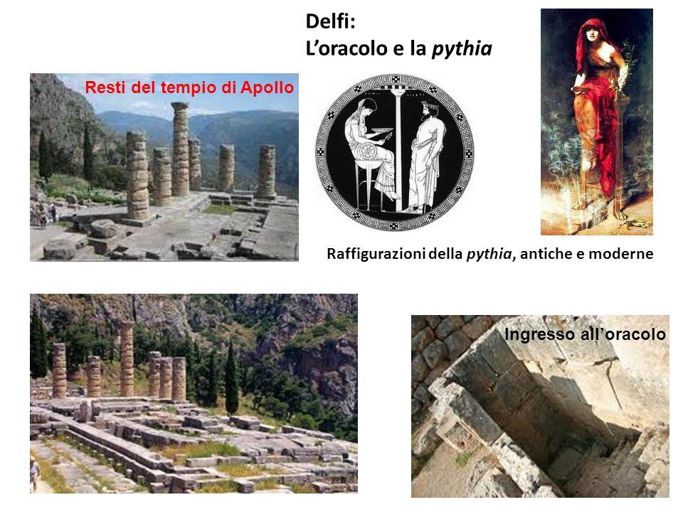 Delfi: L'oracolo e la pythia Resti del tempio di Apollo