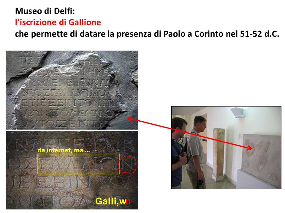 l'iscrizione di Gallione