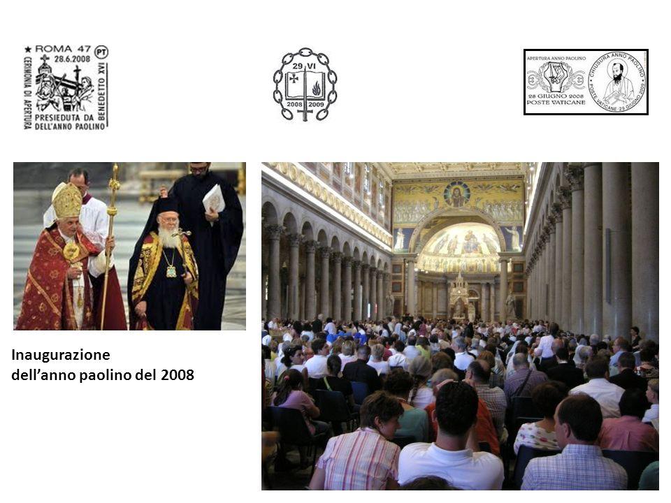 Inaugurazione dell'anno paolino del 2008