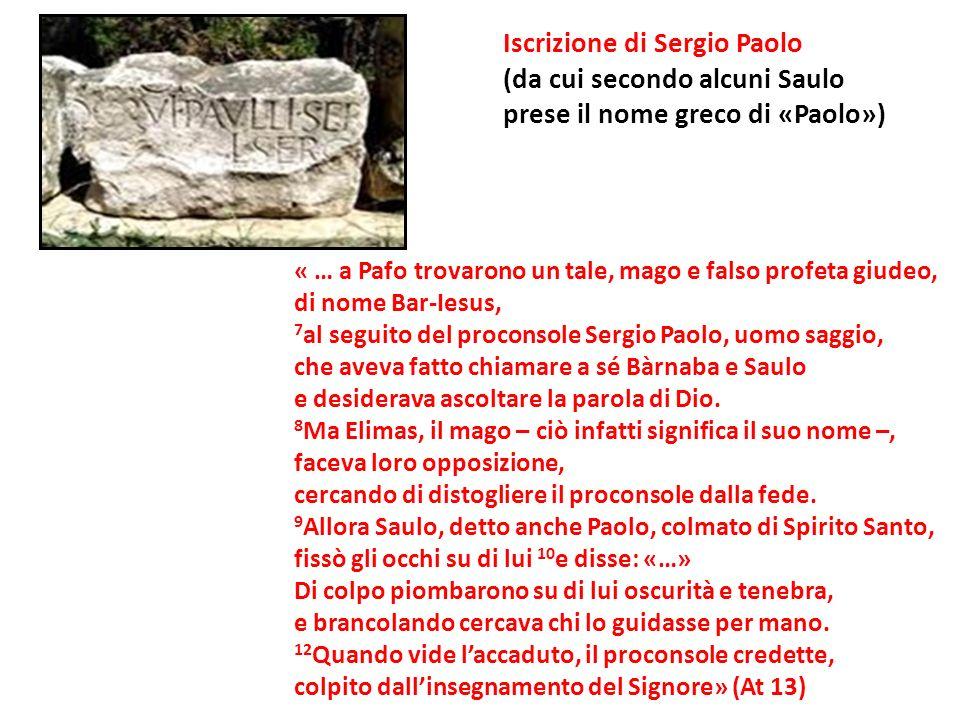 Iscrizione di Sergio Paolo (da cui secondo alcuni Saulo