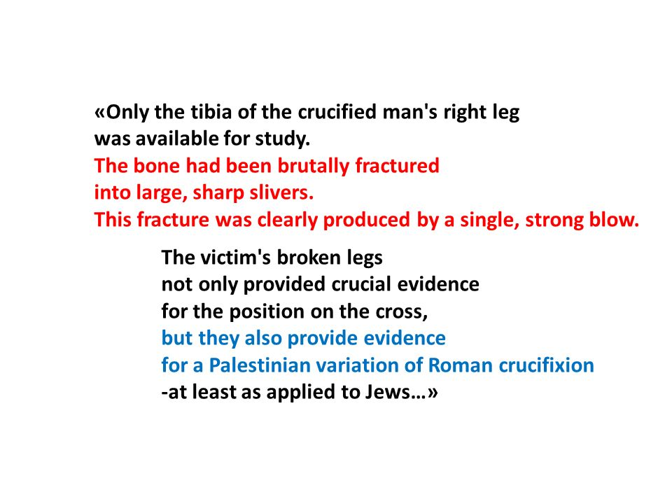 «Only the tibia of the crucified man s right leg