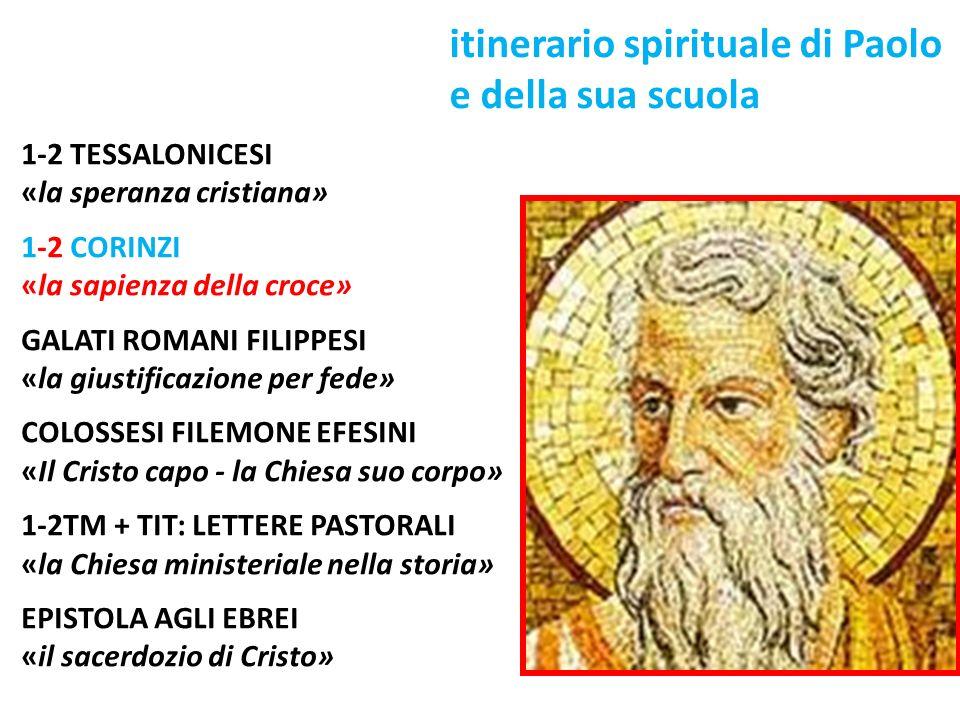 itinerario spirituale di Paolo e della sua scuola