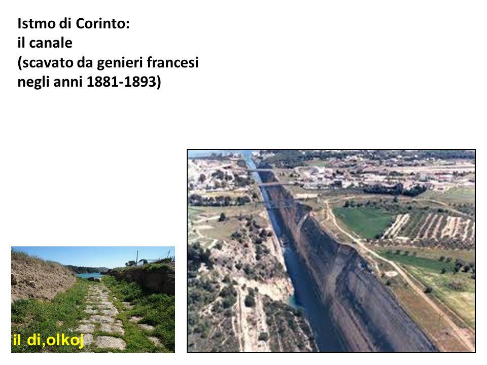 Istmo di Corinto: il canale (scavato da genieri francesi negli anni 1881-1893) il di,olkoj