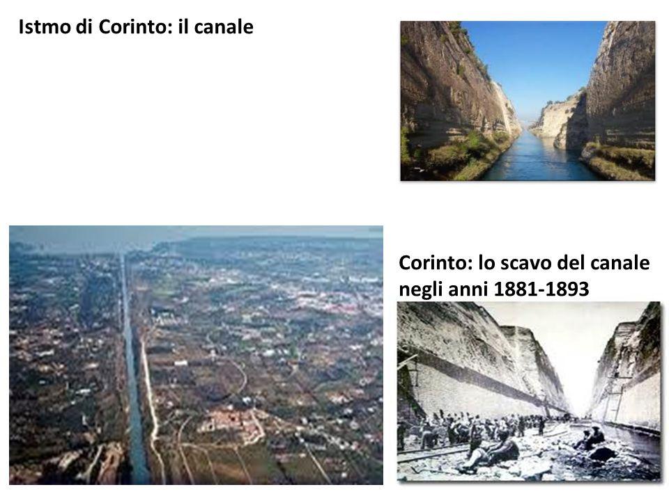 Istmo di Corinto: il canale