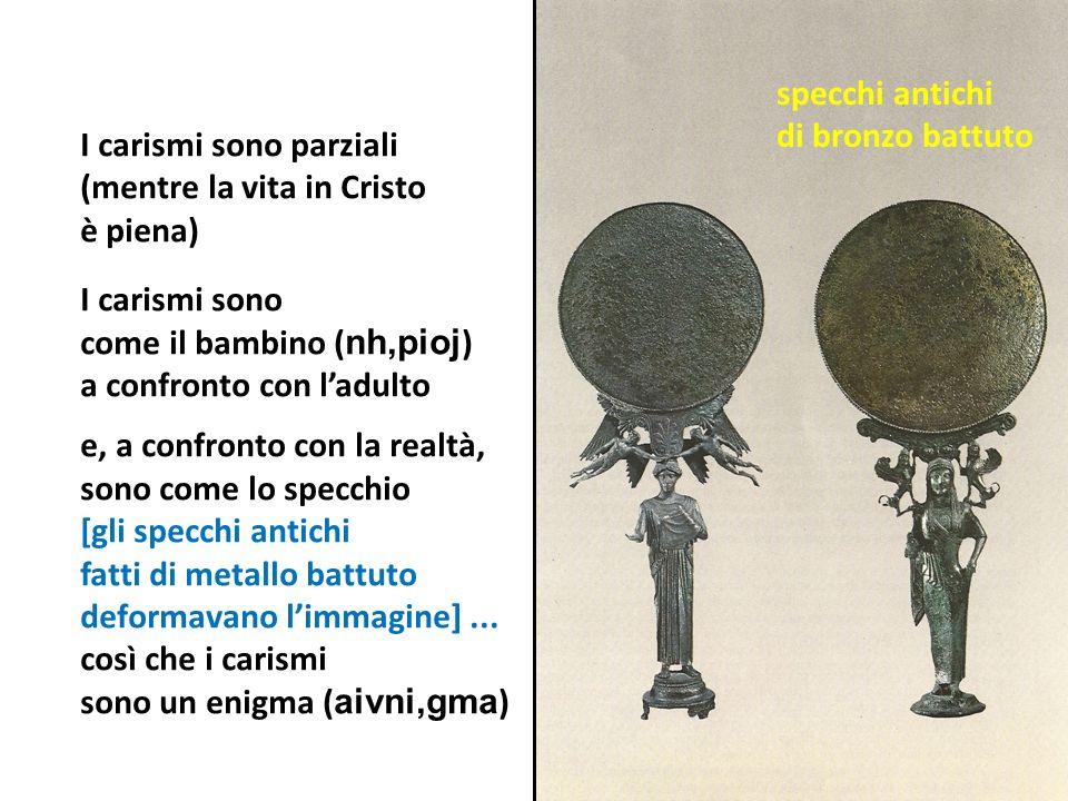 specchi antichi di bronzo battuto.