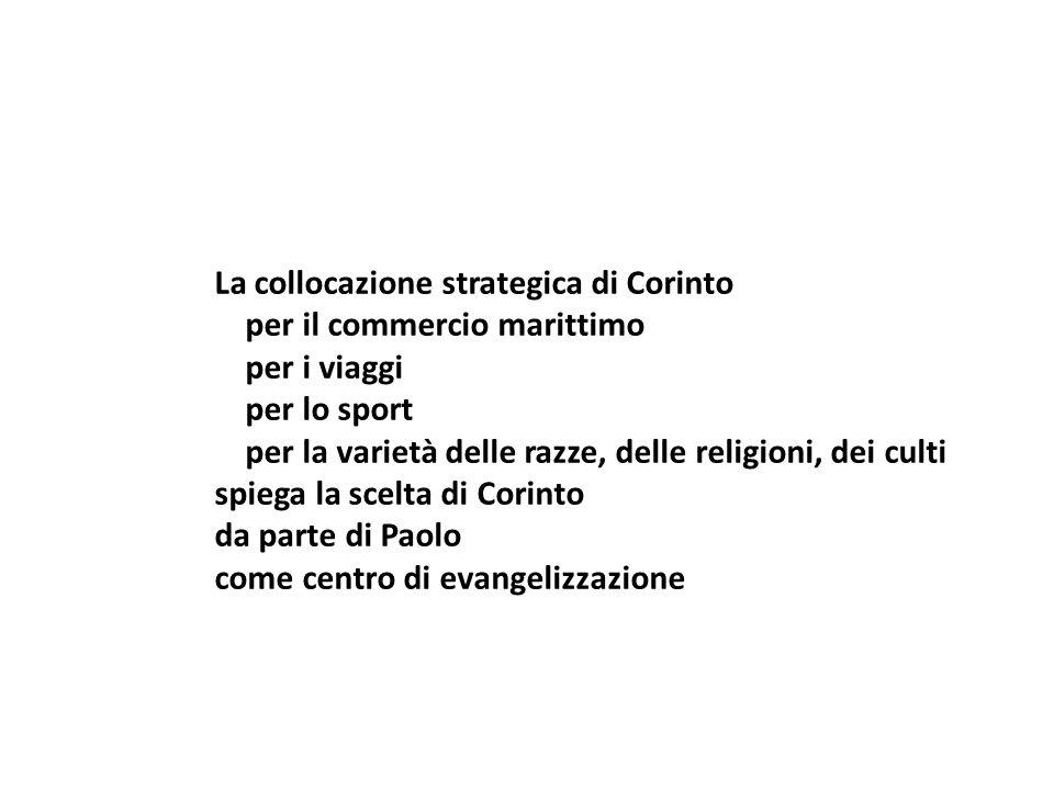 La collocazione strategica di Corinto