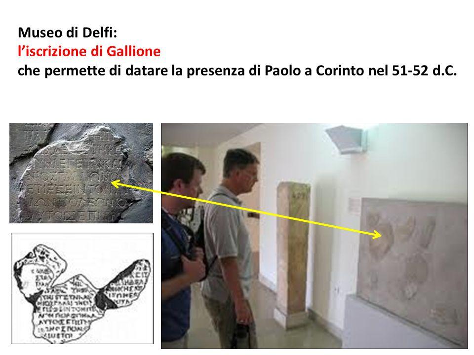 Museo di Delfi: l'iscrizione di Gallione.
