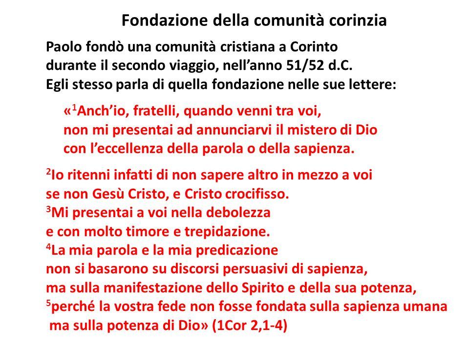 Fondazione della comunità corinzia