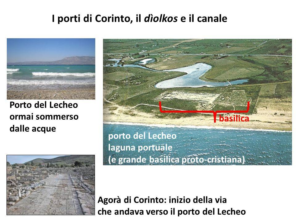 I porti di Corinto, il dìolkos e il canale