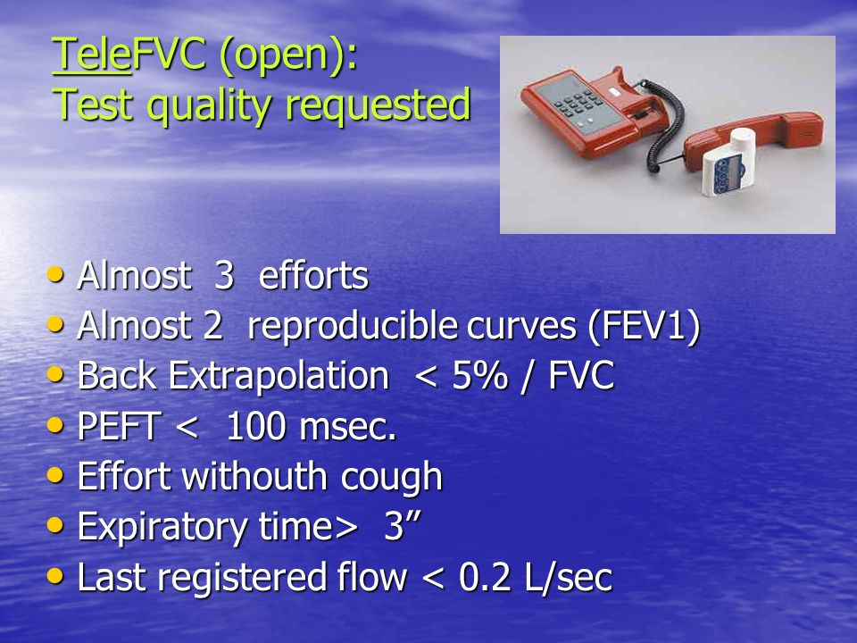 TeleFVC (open): Test quality requested