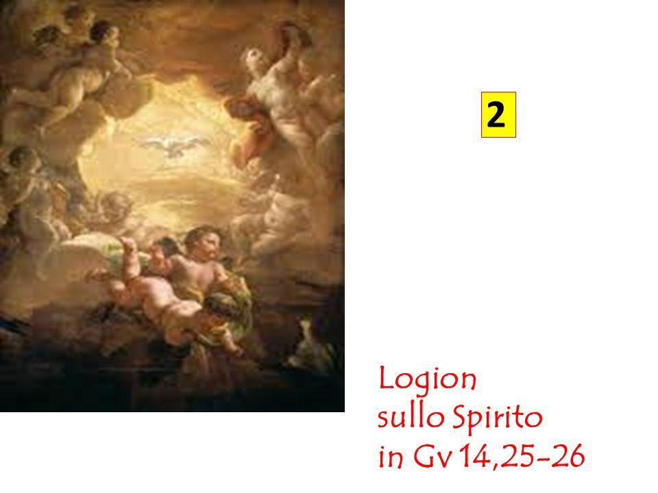 2 Logion sullo Spirito in Gv 14,25-26