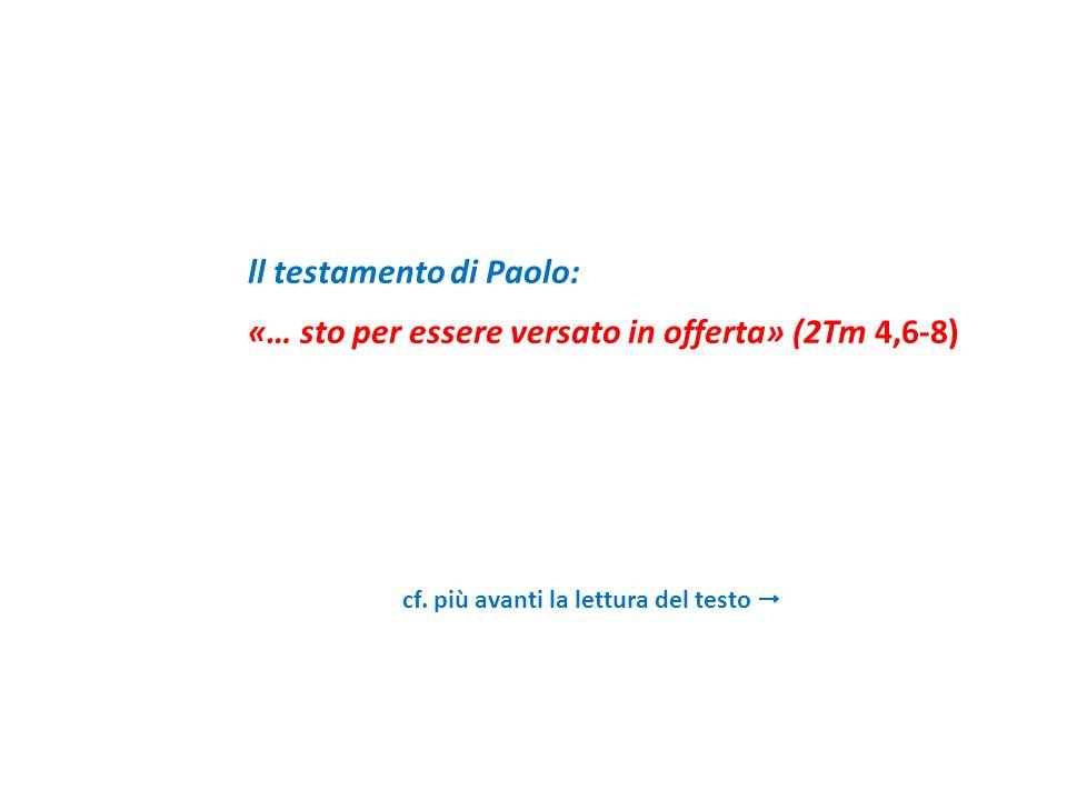 ll testamento di Paolo: