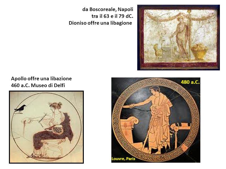 Dioniso offre una libagione