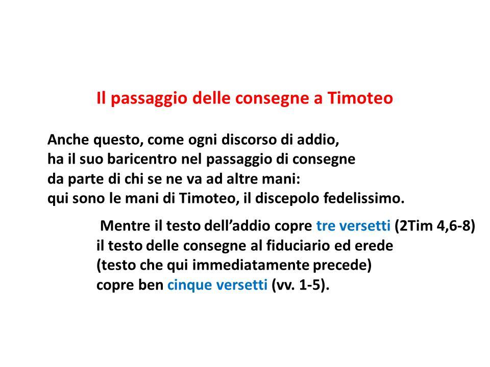 Il passaggio delle consegne a Timoteo