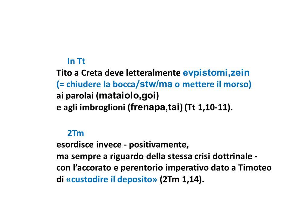 In Tt Tito a Creta deve letteralmente evpistomi,zein. (= chiudere la bocca/stw/ma o mettere il morso)