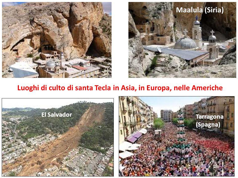 Luoghi di culto di santa Tecla in Asia, in Europa, nelle Americhe