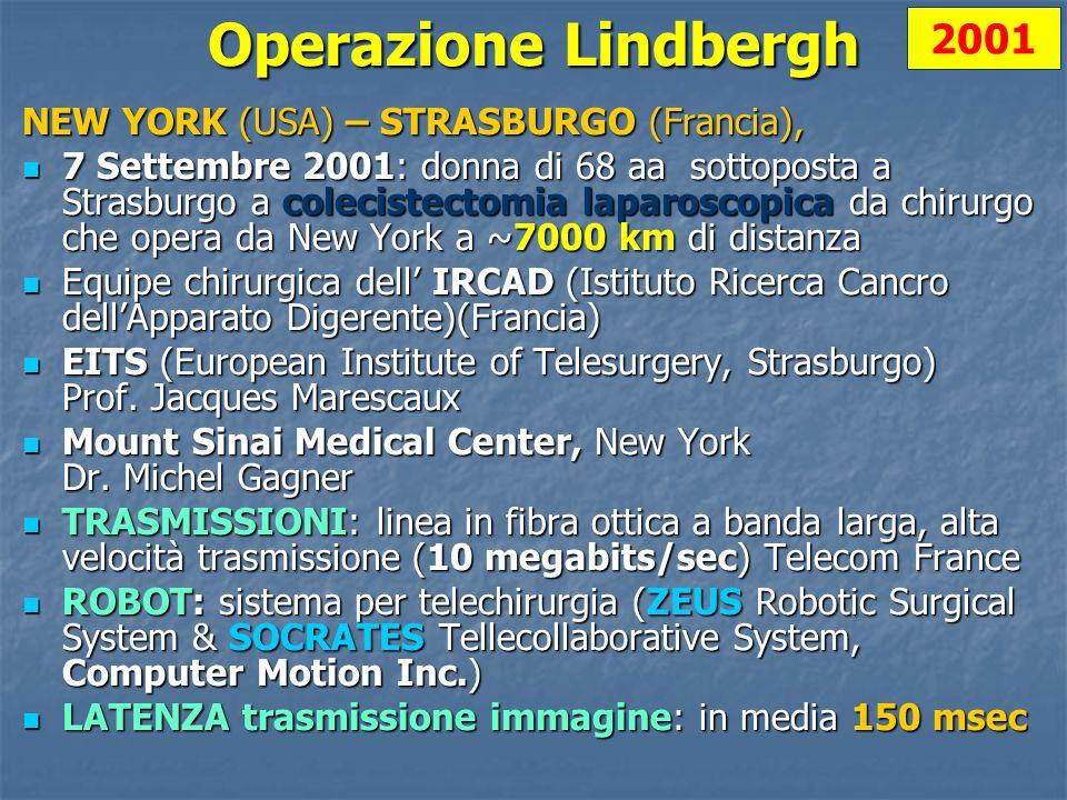 Operazione Lindbergh 2001 NEW YORK (USA) – STRASBURGO (Francia),