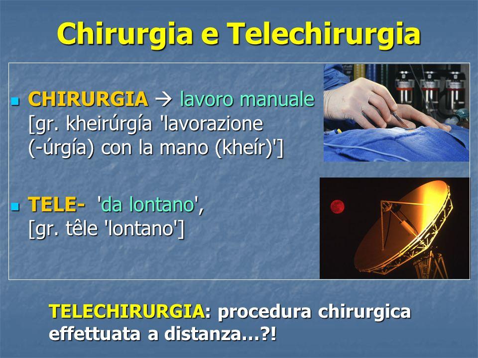 Chirurgia e Telechirurgia