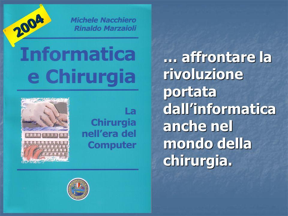 2004 … affrontare la rivoluzione portata dall'informatica anche nel mondo della chirurgia.