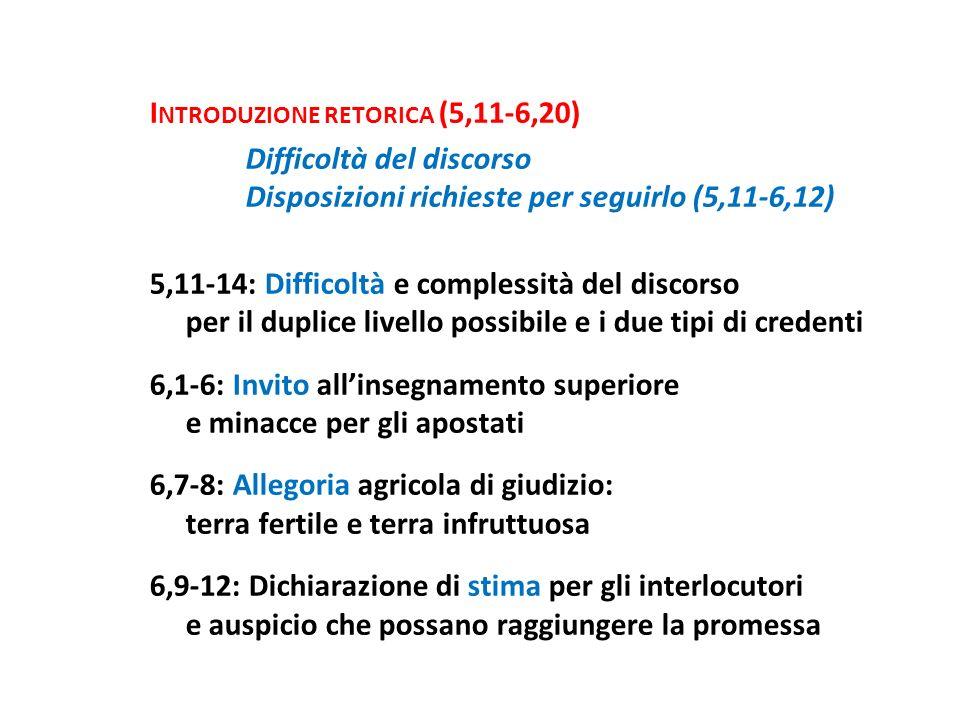 Introduzione retorica (5,11-6,20)