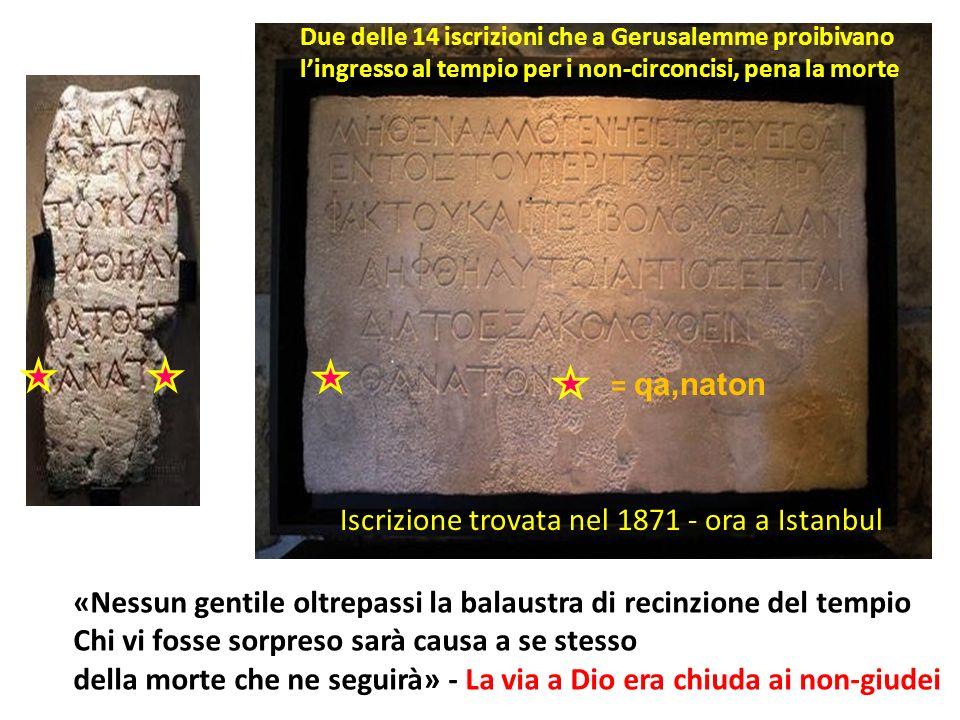 Iscrizione trovata nel 1871 - ora a Istanbul